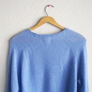 Pure Collection Sweaters - Pure 100% Cashmere Blue Long Sleeves Knit Sweater